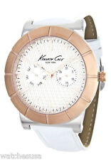 Kenneth Cole New York Men's White Leather Dress Sport Mesh Watch KC9228