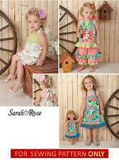 SEWING PATTERN! MAKE BOUTIQUE STYLE GIRL~DOLL MATCHING DRESS! FITS AMERICAN GIRL