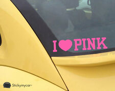 I Love Pink cute car decal sticker love pretty lips kiss girls zebra heart hot
