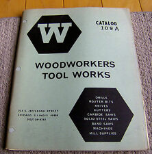 RARE vintage 1974 WOODWORKERS TOOL WORKS catalog 80 pages drills bits knives