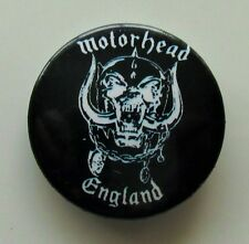 MOTORHEAD ENGLAND VINTAGE METAL BUTTON BADGE FROM THE 1980's  NEW OLD STOCK