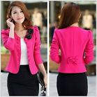 New Fashion Women Lady Tops Slim Suit OL Blazer Short Coat Jacket SZ:S-3XL YF076