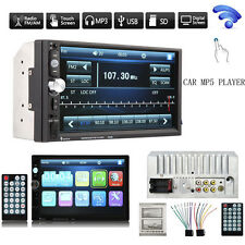 """7"""" Bluetooth Touchscreen Double 2Din In dash Car Stereo Radio Mp3 MP5 DVD Player"""