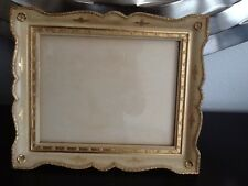 "Vintage Florentine Carved Gilt Wood Picture Frame 12.5"" X 10.5"""