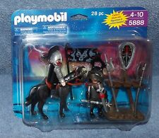 PLAYMOBIL DELUXE KNIGHTS FIGURE SET #5888  2 FIGURE SET & ACCESSORIES