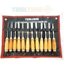 12 PIECE WOOD CARVING CHISELS SET (QUALITY ALLOY STEEL)