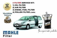 FOR PEUGEOT 807 2.0HDi TD 11/2002-5/2006 OIL AIR FUEL POLLEN FILTER SERVICE KIT