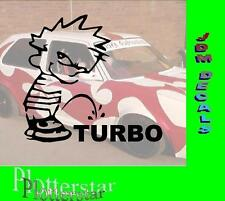 Piss of Turbo Motor Hater JDM Aufkleber Sticker OEM Shocker Like Geil