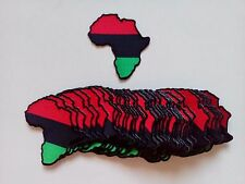 "50 Rasta Africa Map (RBG) Embroidered Patches 3.25""x3""-"