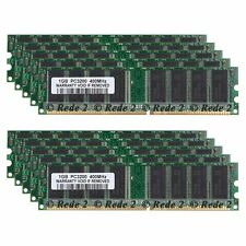 10GB 10X1GB DDR1-400Mhz PC3200 2.5V 184Pin Low Density Dimm Desktop SDRAM Memory