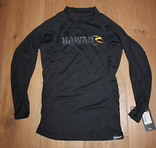 NEW RIP CURL MEN'S Black HAWAII ZISS Long Sleeve RASH GUARD - 50% OFF - SMALL