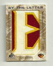 "2006-07 SP Game Used Kari Lehtonen By the Letter ""E"" #7/8"