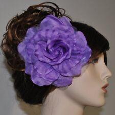 ROSE Stoffblume LILA Blume Brosche Ansteckblume Fascinator Haarschmuck flieder