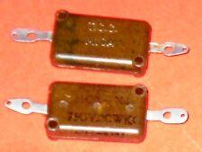 Radio/Electronics.  2 - T.C.C. Mica Capacitors. Ex-Gov't.  0.01 MFD. NOS.