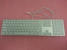 Apple A1243 Ultra Thin Aluminum USB Wired Keyboard TESTED - K302