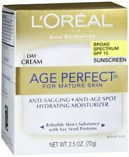 L'Oreal Dermo-Expertise Age Perfect Mature Skin Day Cream SPF 15 2.50oz (3 pack)