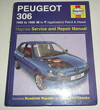 Classic Car Peugeot 306  Workshop Repair Manual Book 1993-1999