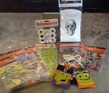 127 Halloween Goodies Stickers Treat Bags Lot NEW SEALED