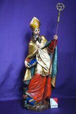 Heiliger Bischoff Urban Handgeschnitzte Hartgips polychrom gefasst Figur um 1920