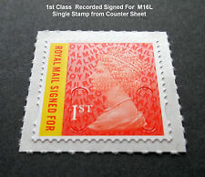 NEW 2016 1st CLASS SIGNED FOR M16L MACHIN SINGLE STAMP from Counter Sheet