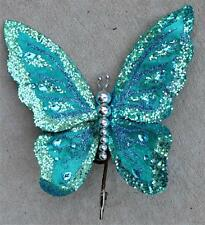 Butterfly Clip Wreath Decoration Craft Wedding Spring Wreath Floral Blue 572 New