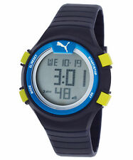 Puma PU911261002 Women's Digital Blue Silicone Grey Dial