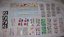 Lot of Vintage 90s MRS. GROSSMAN'S STICKERS Ghosts Birthday Balloons Toys Tools