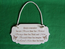 Shabby Chic Friendship Sign Best Friend Gift Novelty Plaque  - You are Stronger