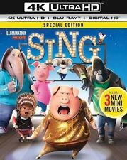 Sing 4K Ultra HD Blu-ray Disc, 2017, UHD with Slip Cover