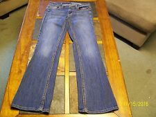 DKNY Womens Blue Stretch Low Rise Flare Denim Jeans 26R