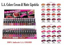 LA COLORS Matte & Cream Lipsticks *Full set of 32 Colors* Full Size Lipsticks