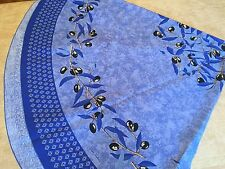 "BLUE 70"" Round Tablecloth"