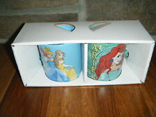 DISNEY ARIEL COFFEE MUG 14 OZ SET X 2 DISNEY PRINCESS SLEEPING BEAUTY & BELLE
