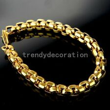Yellow Gold Fashion Men's Jewelry 316L Stainless Steel Chain Wristband Bracelet