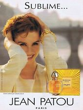PUBLICITE ADVERTISING 114 1993 JEAN PATOU parfum 'Sublime'