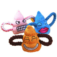 Pet Puppy Chew Squeaker Squeaky Plush Sound Poo Ball For Dog Cat Play Funny Toys