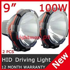 "2 PCS 100W 9"" HID XENON DRIVING LIGHT SPOT BEAM OFF ROAD LAMP OFFROAD 9 Inch"