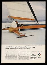 1963 Bantam Lake Connecticut ice boat photo Chase Manhattan Bank print ad
