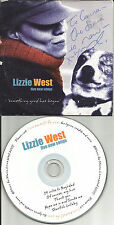 LIZZIE WEST Five New Songs AUTOGRAPHED SIGNED w/ UNRELEASED PROMO DJ CD single