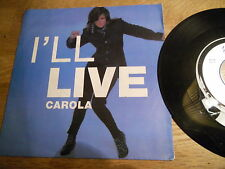 "CAROLA ""I´LL LIVE"" 1990 BIEM / NCB VIRGIN RIVAL RECORDS USED SWEDISH EUROVISION*"