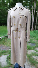 VINTAGE BURBERRY'S PRORSUM Women's Trench Coat Removable Wool Liner L