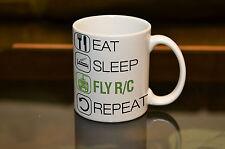 EAT SLEEP Fly R/C Sublimation Mug Birthday Gift Sport Pilot Personalised Name