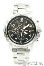 New Fossil Dean Chronograph Steel 24 Hours Dress Men Watch 46mm FS4542 $135