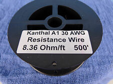 Kanthal A1 Resistance wire..30 awg..8.36 Ohm/ft....500 ft....FREE  SHIPPING