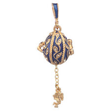 Faberge Egg Pendant / Charm with Angel 2 cm blue #2-1025-11