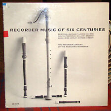 Recorder Music of Six Centuries: Recorder Consort of Musician's Workshop LP