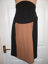 GORGEOUS NEXT MATERNITY BLACK/CAMEL OVER THE BUMP SKIRT SIZE 16 *BNWT* RRP  £20