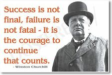 """Winston Churchill - """"... Failure is Not Fatal..."""" NEW Famous Person POSTER"""