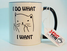 Cat - I do what I want - cute Mug Cup - Coffee Tea Pet White, 11 oz
