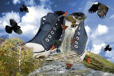 """perfect oil painting handpainted on canvas """"shoes,eagles,butterflies""""@NO755"""